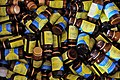 US Navy 090308-N-0506A-393 Empty bottles of the de-worming medication albendazole are discarded in a box during a Combined Joint Task Force-Horn of Africa medical civil action project.jpg