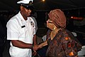 US Navy 090915-N-8138M-003 Liberian President Ellen Johnson Sirleaf meets Chief Boatswain's Mate Timothy Kelker during a closing reception for the Africa Partnership Station Swift (HSV2) visit to Liberia.jpg