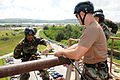 US Navy 091113-N-1906L-004 Hospital Corpsman 3rd Class Joe Wilson makes his way down the rappelling tower during a basic fast rope certification.jpg
