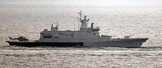 Kedah-class offshore patrol vessel - Image: US Navy 110126 N 6320L 821 The Royal Malaysian Navy corvette KD Kelantan (175) is underway in the Strait of Malacca