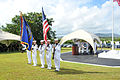 US Navy 110603-N-RR409-659 Members of a color guard presents the colors during a wreath laying ceremony in commemoration of the 69th anniversary of.jpg