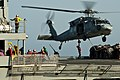 US Navy 111020-N-BT887-421 An MH-60S Sea Hawk assigned to the Eightballers of Helicopter Sea Combat Squadron HSC-8, lifts cargo.jpg