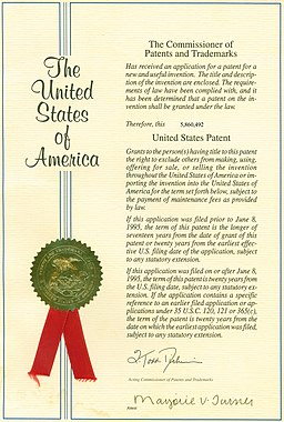 By USPTO (United States Patent Office) [Public domain or Public domain], via Wikimedia Commons