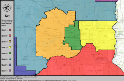 United States Congressional Districts in Minnesota (metro highlight), since 2013.tif