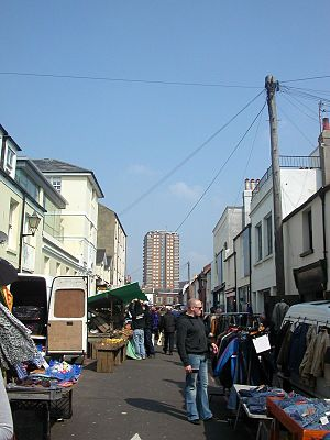 North Laine - The Saturday market on Upper Gardner Street