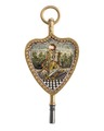 Urnyckel av guld och mosaik med frimurarmotiv, 1700-tal - Hallwylska museet - 110361.tif