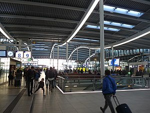 Utrecht Centraal railway station - Inside the new station.