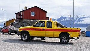 Greenland Airport Authority - Mittarfeqarfiit semi-truck in Uummannaq