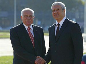 Václav Klaus - Václav Klaus with Boris Tadić during his state visit to Serbia in 2008.