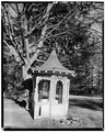 VIEW OF GAZEBO FROM EAST - Armour-Stiner House, Gazebo, Irvington, Westchester County, NY HABS NY,60-IRV,3A-1.tif