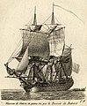 Vaisseau de guerre en panne vu par le bossoir de babord (1813).jpg