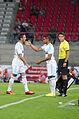 Valais Cup 2013 - OM-FC Porto 13-07-2013 - Remplacement de Morgan Amalfitano par Dimitri Payet.jpg