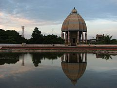Valluvar Kottam terrace reflection.JPG