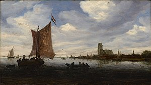 Grote Kerk, Dordrecht - Image: Van Ruysdael, Salomon, View of Dordrecht, ca. 1660