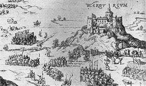 Siege of Varberg - Image: Varbergs kapitulation 1569