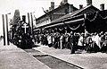 Vasútállomás, a Szent Jobbot szállító szerelvény, az Aranyvonat érkezése. A felvétel 1938. június 27.-én készült. Fortepan 100297.jpg