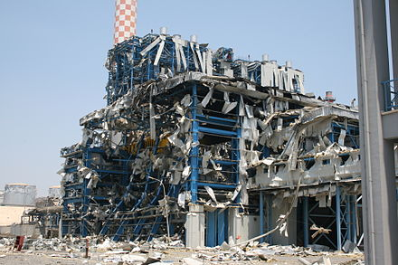 The Vasilikos power station two days after the explosion Vasilikos blowup damage IMG 3315.JPG