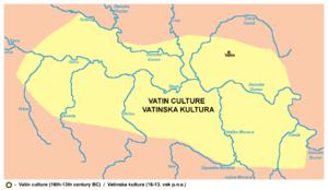 Vatin - Area of Vatin culture