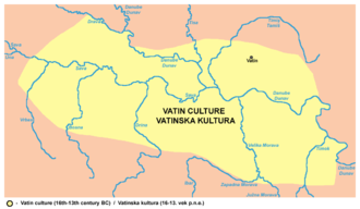 Vatin culture - Area of Vatin culture