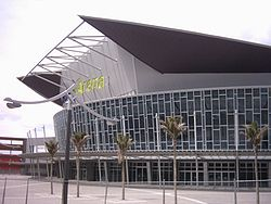 Vector Arena from the outside.