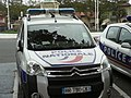 Vehículo de la Policía Nacional francesa en Arcachón 02.jpg