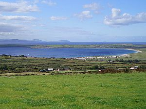 Ventry - Ventry is located at the northeastern end of Ventry Bay, seen to the left in this photo