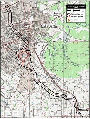 Map Of Louisiana Bayou.Battle Of Vermillion Bayou Wikipedia