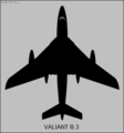 Vickers Valiant B.3 top-view silhouette.png