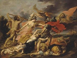 Victor Wolfvoet (II) - Hercules and Minerva Expelling Mars