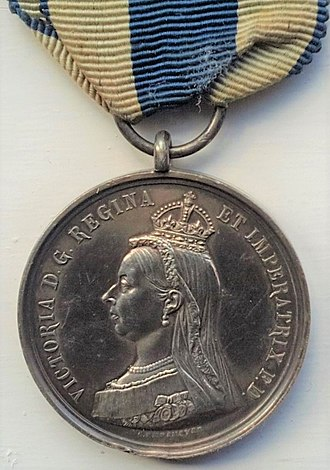 Queen Victoria Diamond Jubilee Medal - Image: Victoria Jubilee Medal, obverse