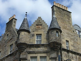 Scottish baronial architecture - Scots-baronial style turrets on Victorian tenements in Edinburgh