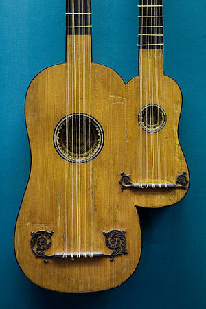Multi-neck guitar - Image: Vienna Double guitar Paris 1690 9606