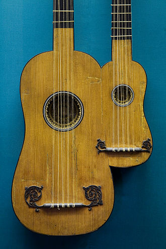 Nicholas Alexandre Voboam II - Double guitar (5 double course) by Alexandre Voboam in Paris, 1690