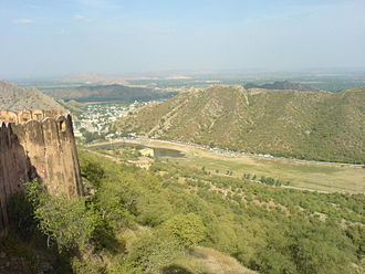 Rajasthan - Hills around Jaipur, viewed from Jaigarh Fort.