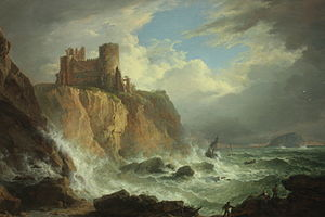 Alexander Nasmyth - View of Tantallon Castle and the Bass Rock by Alexander Nasmyth