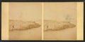 View of people sitting on top of rocks in the beach, from Robert N. Dennis collection of stereoscopic views.png