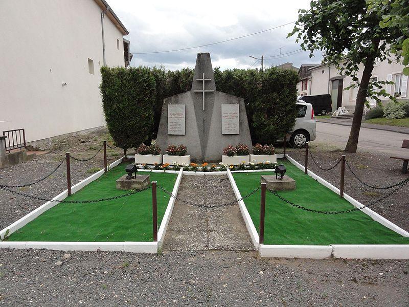Ville-en-Vermois (M-et-M) monument aux morts
