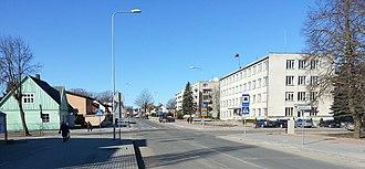 Skuodas - Vilnius str. in Skuodas in 2013