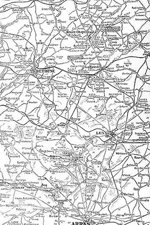 First Battle of Artois - Area of operations, 1914