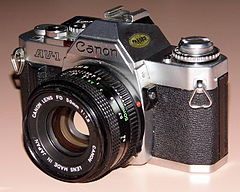 Vintage Canon AV-1 35mm SLR Film Camera, Made In Japan, Circa 1979 (13518418035).jpg