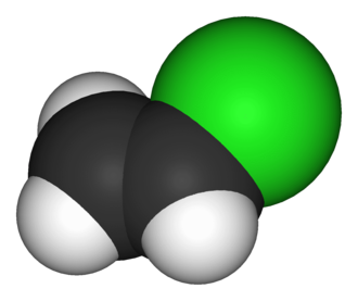 Vinyl chloride - Image: Vinyl chloride 3D vd W