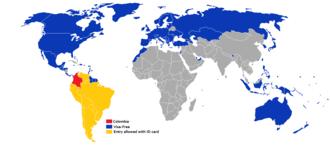 Visa policy of Colombia - Visa policy of Colombia