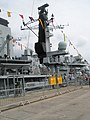 """Visitors leaving HMS Richmond at the 2008 """"Meet the Navy"""" event - geograph.org.uk - 900539.jpg"""