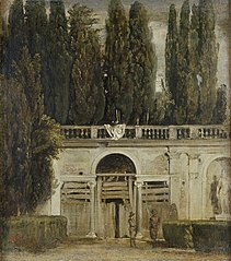 View of the Garden of the Villa Medici