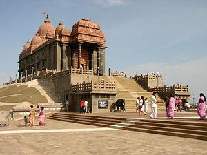 English: Memorial for Swami Vivekananda, offsh...