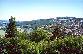 Vlotho as seen from the castle on the Amthausberg