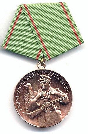Medal for Exemplary Border Service - Image: Vorbildlichen Grenzdienst 3