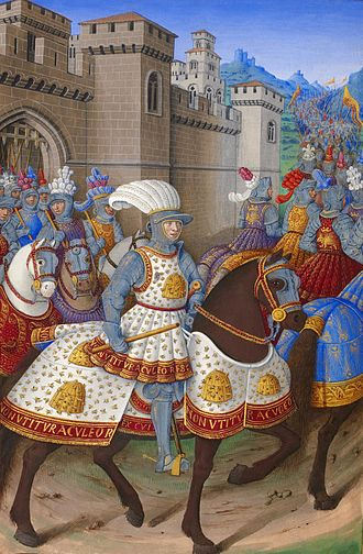 Louis XII of France - Louis XII leaving Alessandria to attack Genoa, by Jean Bourdichon