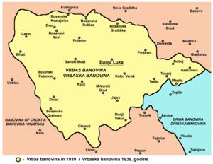 Vrbas Banovina - Image: Vrbaska banovina 1939
