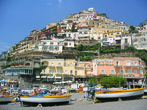 Positano - The beach of Positano.